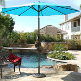 New 9 FT Aluminum Umbrella Patio Yard Beach Sun Shade W/ Crank & Tilt Turquois