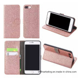 Glitter PU Leather Wallet Mobile Cell Phone Case for iPhone Samsung