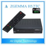 European Hot Sale Multistream Decoding Box Zgemma H5.2tc Linux OS DVB-S2+2*DVB-T2/C Dual Tuners