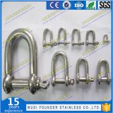 1108 High Quality Stainless Steel D Ring Shackle