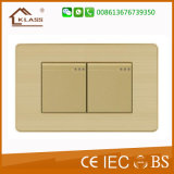 Aluminum Metal Clab Two Gang One Way Power Switch
