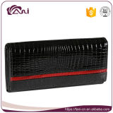 High Quality Black Small Crocodile Skin Wallet Genuine Leather Women Wallet Clutch Purse for Lady
