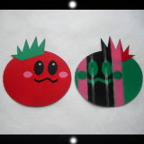 Laser Cutting Shape and Heat Seal Backing Woven Badge