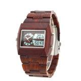 Wooden Fashion Analog Digital Watch