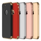 3-in-1 Ultra Thin Slim Hard Case Coated Non Slip Matte Surface Electroplate Frame for iPhone 7