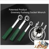 Greenery Quick Release Ratchet Wrench with Rubber Patented Handle