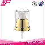 Cream Pump with White Head Metal Closure Transparent Nozzle