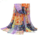 Cheap Cotton Imitation Stole / Polyester Fashion Scarf (HWBPS021)