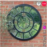 Wrought Iron Garden Window Mirror Round Mirror