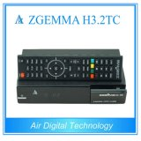 2017 European Hot Sale Multi-Stream Decoder Zgemma H3.2tc Combo Receiver with DVB-S2+2*DVB-T2/C Dual Tuners