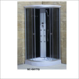 Rectangle Shower Cabin with Shelf with Top Shower and Six Jets/Nozzles