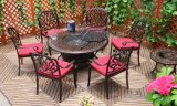 Best Choices Outdoor Patio BBQ Barbecue 7 Pieces Cast Aluminum Garden Furniture Set Anti-Bronze Finish