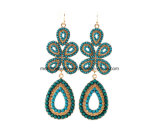 New Personality Bohemian Bead Inlaid Female Earrings Flowers Design Jewelry