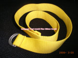 Kids Simplely Yellow Polyester Belt