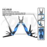"4"" Closed Blue Anodized Alum Handle Multi-Tools with Black Pliers: 4ln1-40blbk"