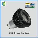UL GU10 8W COB LED Spot Light with Black Lamp Housing