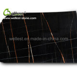 Best Price Black Natural Nero Tunisi Polished Marble Slab for Lobby Flooring