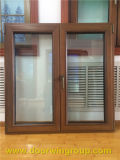 Teak Wood Aluminum Fixed Window with Tempered Glass