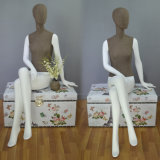 Fabric Wrapped Female Sitting Mannequin for Window Display