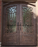 Beautiful Security Uropean Style Iron Grill Front Entry Door