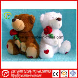 Plush Teddy Bear Toy with Flower for CE Certificate