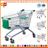 Supermarket European Style Zinc or Chrome Shopping Trolley Cart (Zht109)