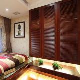 Bulit-in Wall Wardrobe with Solid Wood Shutter Door