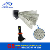 New Technology Fanless LED Headlight 8~32V 20W 2600lm 25W 3200lm