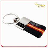 Promotion Metal Key Ring with Woven Lanyard Strap