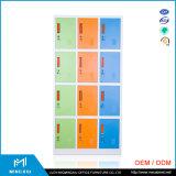 Mingxiu Colorful Muti-Tier Steel Cabinet Clothes Locker Used School 12 Door Steel Locker Cabinet
