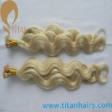 100% Blonde Virgin Brazilian Keratin Flat Tip Hair Extension