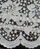 Milk Wire Lace Fabric for Garment
