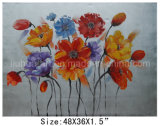 Abstract Colorful Flowers in Cluster Oil Painting for Home Decor (LH-700561)