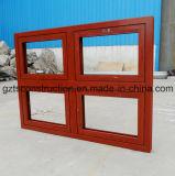 Power Coated Wooden Color 60series Thermal Break Aluminum Casement Window