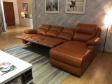 Corner Recliner Sofa, Sectional Leather Sofa (729)