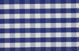 Navy/White Checks Twill CVC Yarn Dyed Fabric Shirting