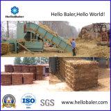 Semi-Auto Horizontal Hydraulic Press Straw Hay Baler with Conveyor