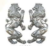 Aluminum Casting Lions Ornament Gate Decoration One Set Per Gate