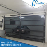 Modern House Design Remote Control Aluminum OEM Transparent Garage Door
