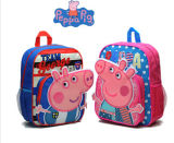 Hotsale 600d Peppa Kindergarten Kids School Bag Backpack