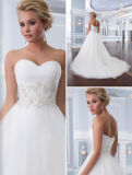 Latest Sweetheart Neck Bridal Wedding Gown (OGT6303)