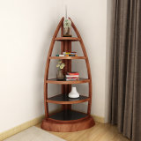 Antique Wooden Boat Bookcase for Study Office Shelves