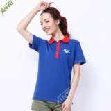 2015 Hot Navy Blue Wholesale Polo Shirts for Women