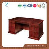 Executive Bow Front Desk with File Drawers