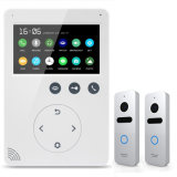 4.3 Inches Home Security Interphone Video Door Phone Intercom with Memory