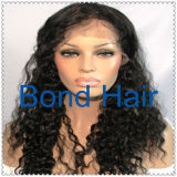 Fashion Virgin Brazilian Human Hair Curly Full Lace Wig