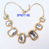 Fashion Jewelry Exoticism Chain Glass Bracelet & Necklace Set Fashion Jewelry (SFS00014A)