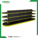 Supermarket Display Shelving with Round End Shelf