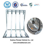 Outdoor Galvanized Semi Vertical Bicycle Rack