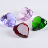 Colorful Heart Crystal Diamond for Paperweight or Decoration